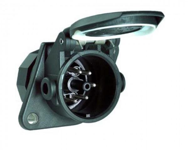 ABS-Steckdose 5-polig - 24 V - ISO 7638 - PG-Verschraubung